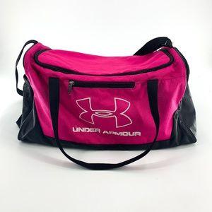 Under Armour Pink & Black Duffel Bag